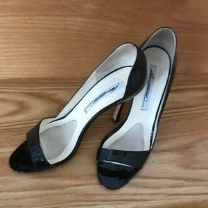 Brian Atwood patent leather heels.